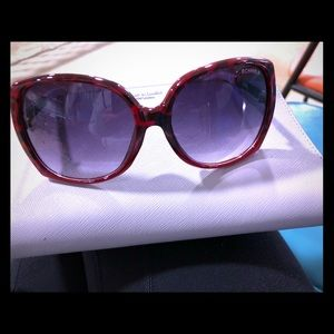Accessories - Wine Red oversized sunnies